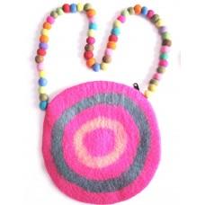 Felt Round Bag With Circle