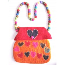 Felt Heart Shape Bag
