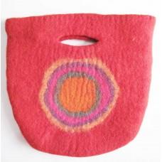 Felt Circle Hand Bag