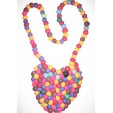 Felt Heart Shape Balls Bag