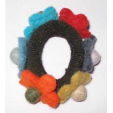 Felt wool Flowers Bracelet