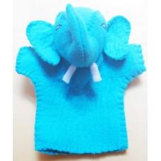 Handmade Felt Puppet in Elephant