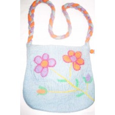 Felt Flwers Long Handle Bag