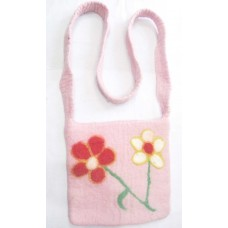 Flowers craft felt bag
