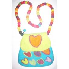 Felt Heart Shape Bag with balls