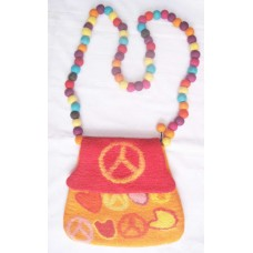 Peace Mark & Heart Felt Bag