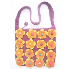 Felt Many Double Flower Bag-A