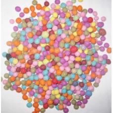 1cm Diameter Felt balls