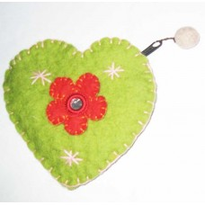 Flower Crochet Heart Purse