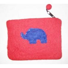 Felt Elephant Crochet Purse