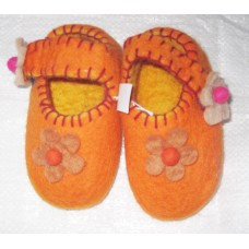 Crochet Felt Shoes Flower on Front