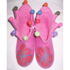 Felt Cutting Beth Flower Shoes-A
