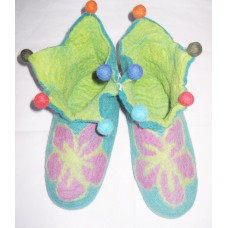 Felt Cutting Beth Flower Shoes-B