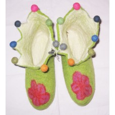 Felt Cutting Beth Flower Shoes-C
