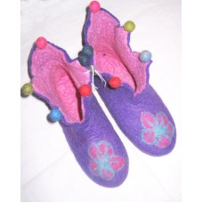 Felt Cutting Beth Flower Shoes-D