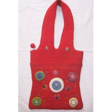 Felt Crochet Circle Bag