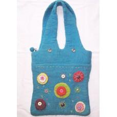 Felt Crochet Circle Bag-A