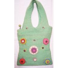 Felt Crochet Circle Bag-C