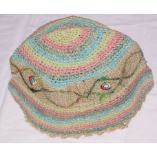 Mirror Silk Border Hemp Hat