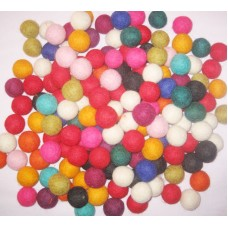 3cm Multi Color Felt Balls