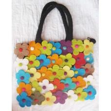 Felt 35 flowers Bag