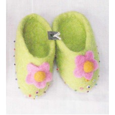 Felt baby Slipper With Flower-a