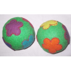 Felt Flowers Crochet 5inch balls-100pcs