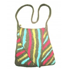 Felt Folding Stripes Bag