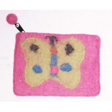 Butterfly Felted Purse