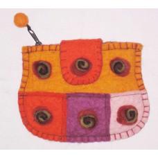 Crochet Felt Spiral balls Purse