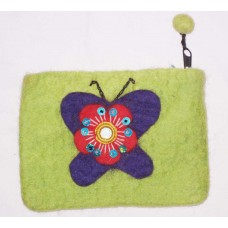 Butterfly Mirror Felt Purse