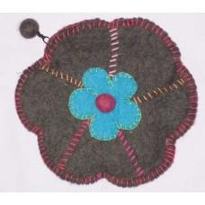Felt Crochet purse with Flowers