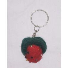 Strawberry Felt key Chains