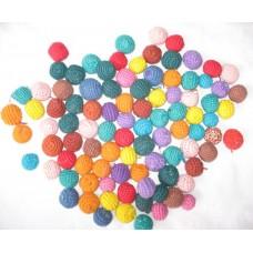 Felt Balls with hand crochet