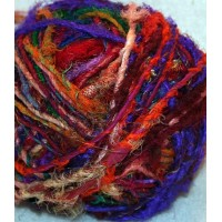 Uncarded recycled silk yarn in balls-1kg
