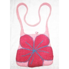 Felt Flower Long Handle Bag