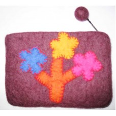 Tree Design Crochet Flowe Purse