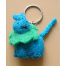 Felt Animal Design Key Chain-B