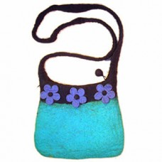 Wool Felt bag 2 Color With flower