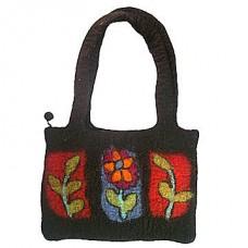 Leaf Flower Felt Bag