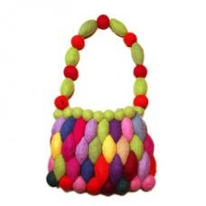 Felt Egg  Round Ball Bag