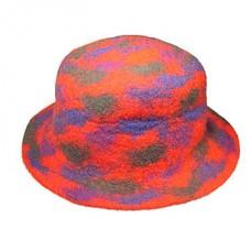 Tie-dye Round Felt Hat