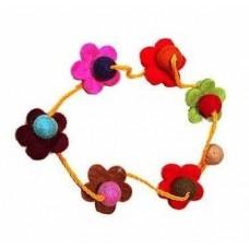 Wool Crafts Flower Necklace