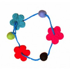 Felt Flower Balls Necklace