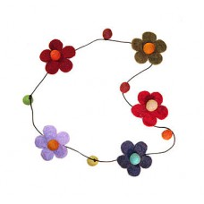 Wool Flower Felt necklace