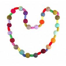 Woolen Felted Balls Necklace