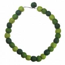 Felt Necklace in Balls