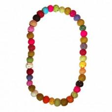 Wool Felted Handade Balls Necklace