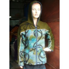 Hooded Knitwearing Jacket