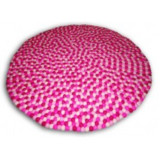 100cm felt ball rug in Pink tone